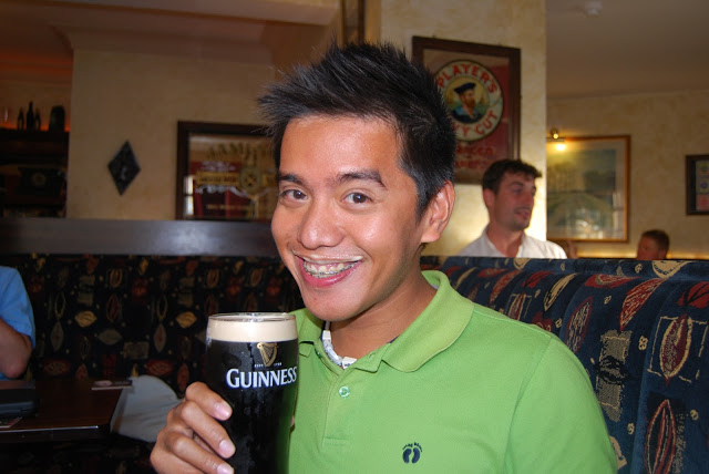 drinking guinness beer in ireland