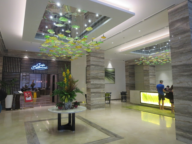 the lobby of belmont hotel