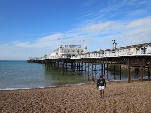 brighton pier in england