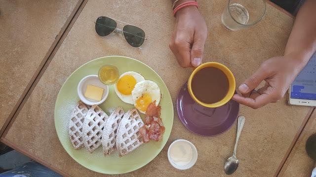 wheat waffles for breakfast
