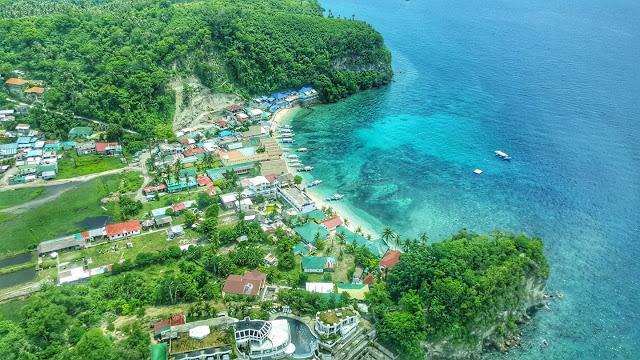 puerto galera aerial view