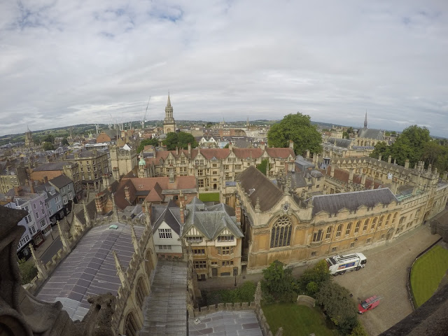 top view of oxford university