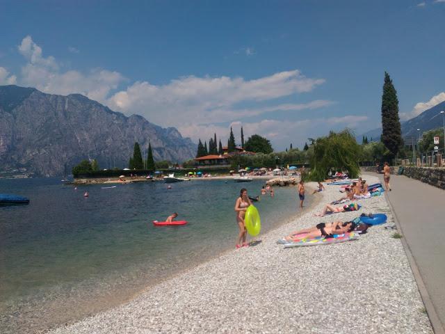 relaxing at lake garda italy