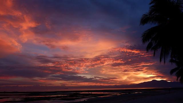 amazing sunset in Siquijor Island