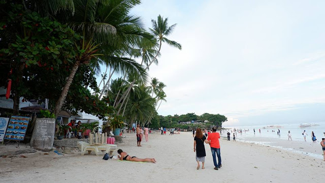 along beach panglao bohol