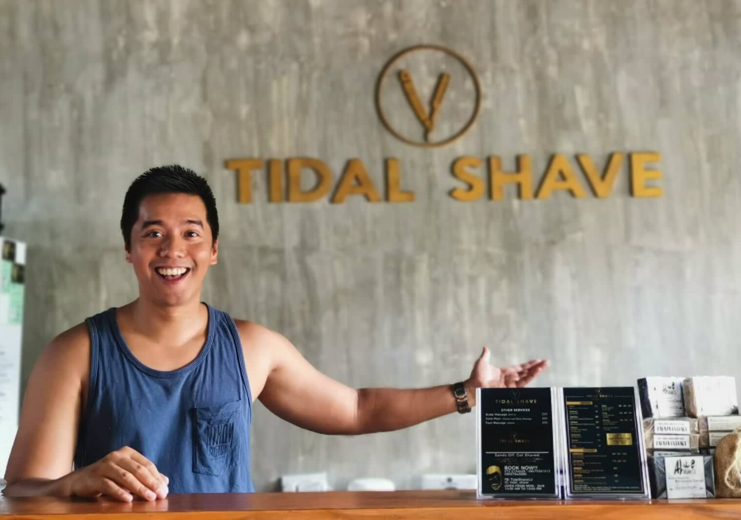 tidal shave barbershop in san juan la union